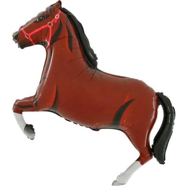 Шар (107 см) Фигура, Лошадь, Коричневый.