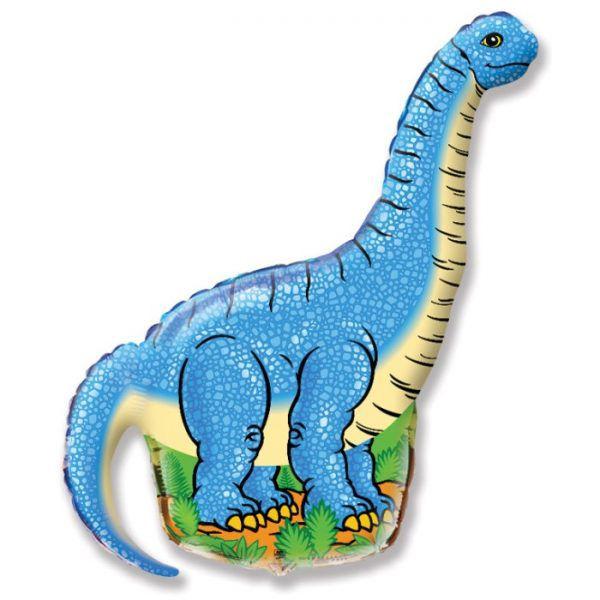 Шар (109 см) Фигура, Динозавр диплодок, Синий
