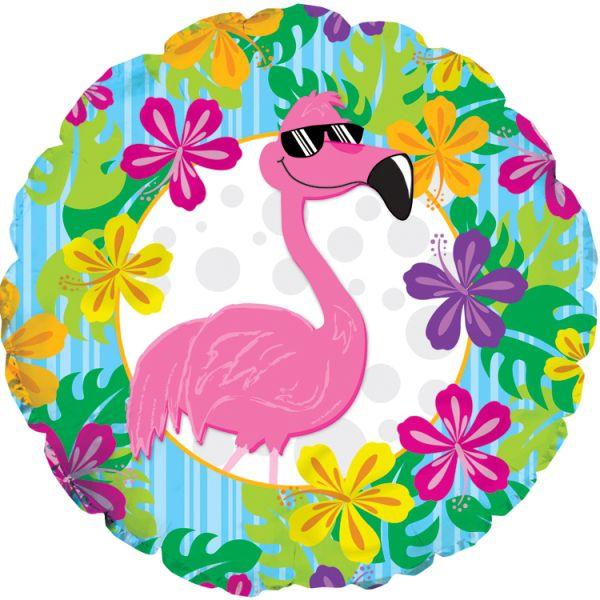 Шар (46 см) Круг, Фламинго.