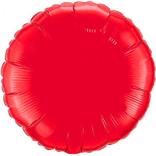 Шар 46 см Круг, Красный