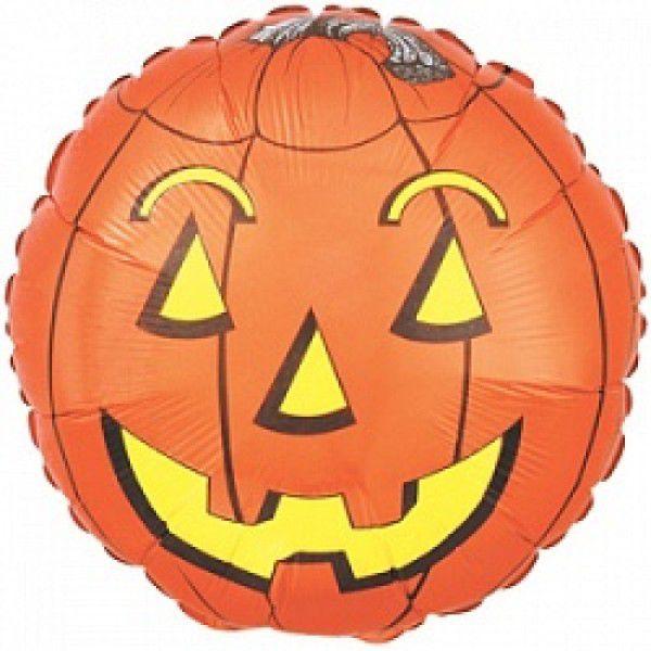 Хэллоуин Шар (46 см) Круг, Тыква, Оранжевый.