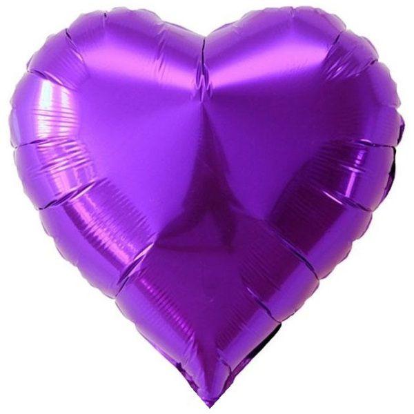 Шар (46 см) Сердце, Фиолетовый