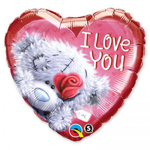 Шар (46 см) Сердце, Me To You ILY Роза красная.