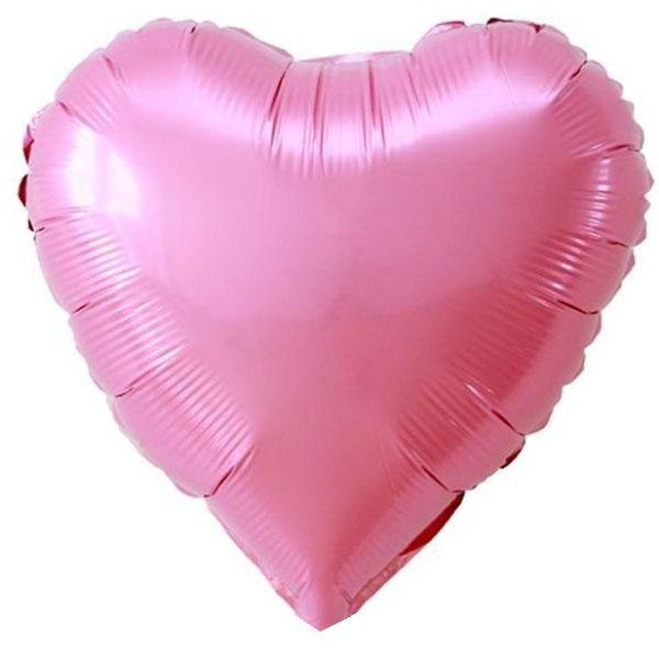 Шар 46 см Сердце, Розовый