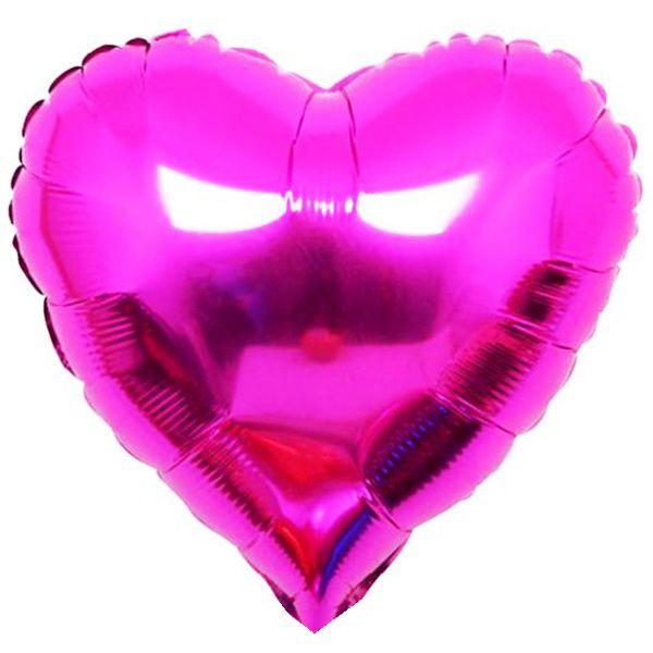 Шар 46 см Сердце, Сиреневый