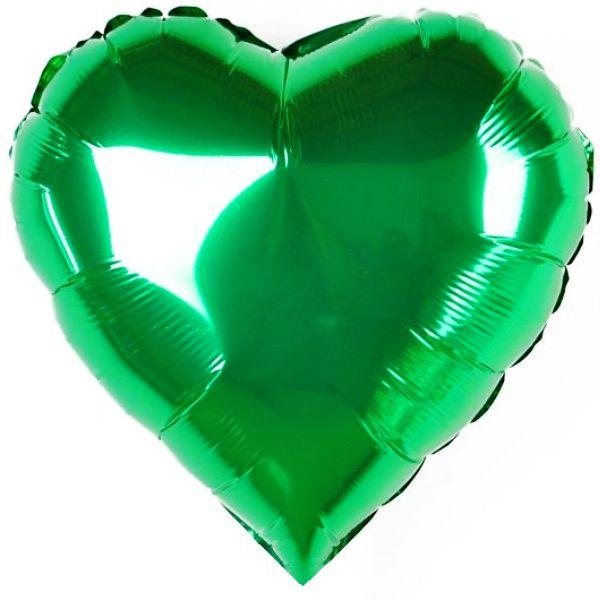 Шар 46 см Сердце, Зеленый