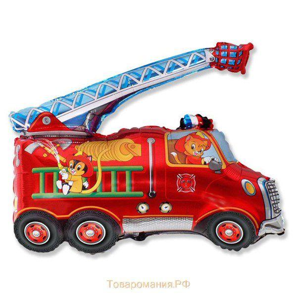 Шар (79 см) Фигура, Пожарная машина, Красный.