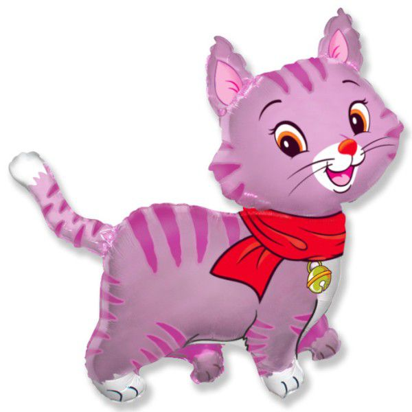 Шар (81 см) Фигура, Любимый котенок, Фуше.