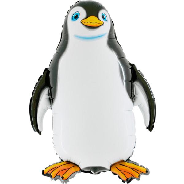Шар (81 см) Фигура, Счастливый пингвин, Черный.