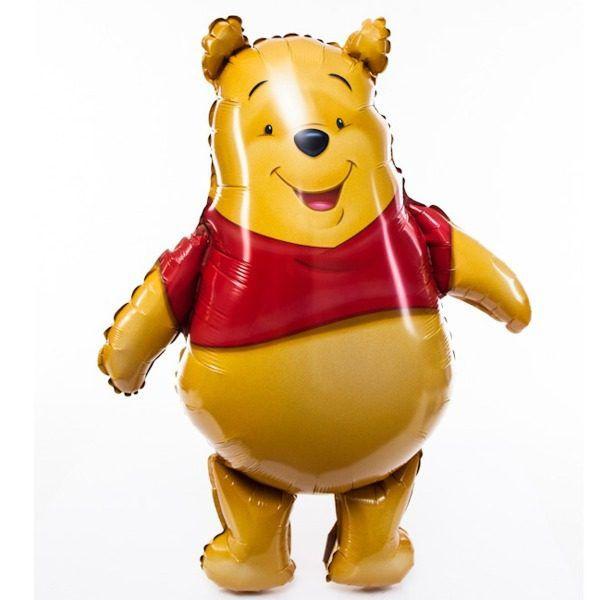 Шар (84 см) Фигура, Медвежонок, Желтый.