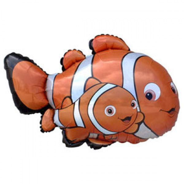 Шар (86 см) Фигура, Рыба-клоун Немо, Оранжевый.