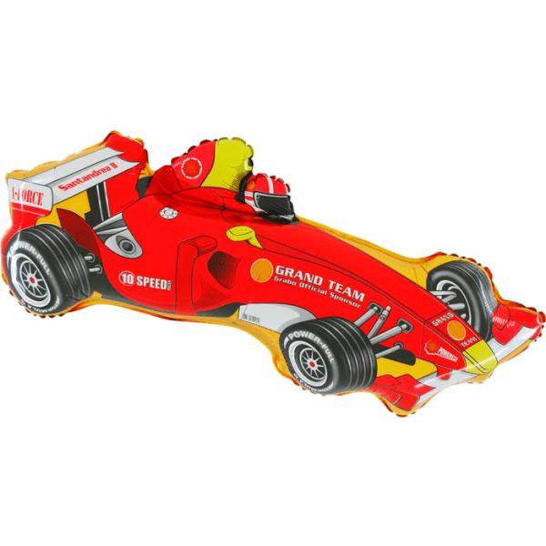 Шар (91 см) Фигура, Формула 1, Красный.