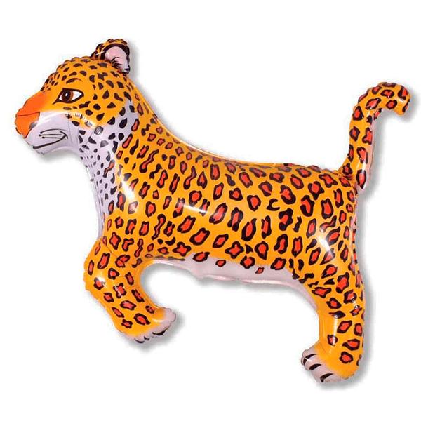 Шар (91 см) Фигура, Леопард, Черный.