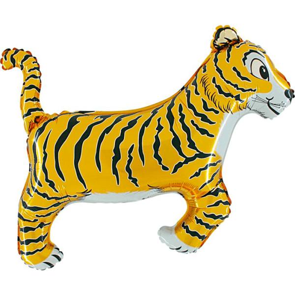 Шар (91 см) Фигура, Тигр, Черный.