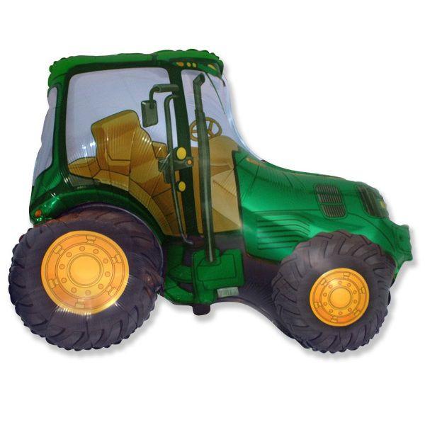 Шар (94 см) Фигура, Трактор, Зеленый.