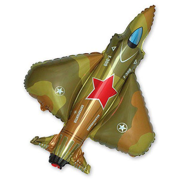 Шар (99 см) Фигура, Истребитель, Военный.