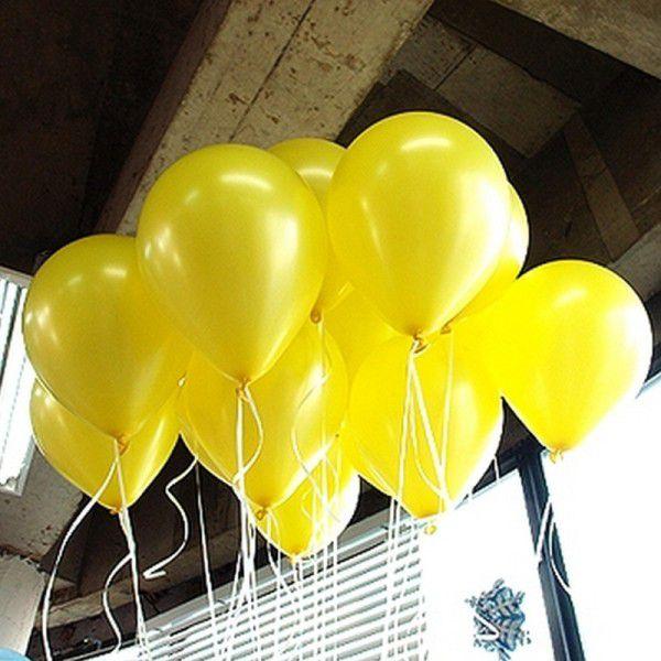 Шары под потолок Желтый пастель