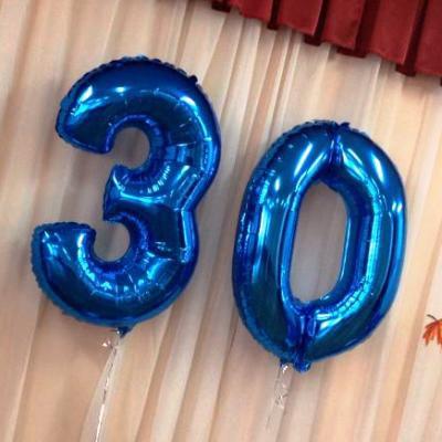 Синие воздушные шары-цифры