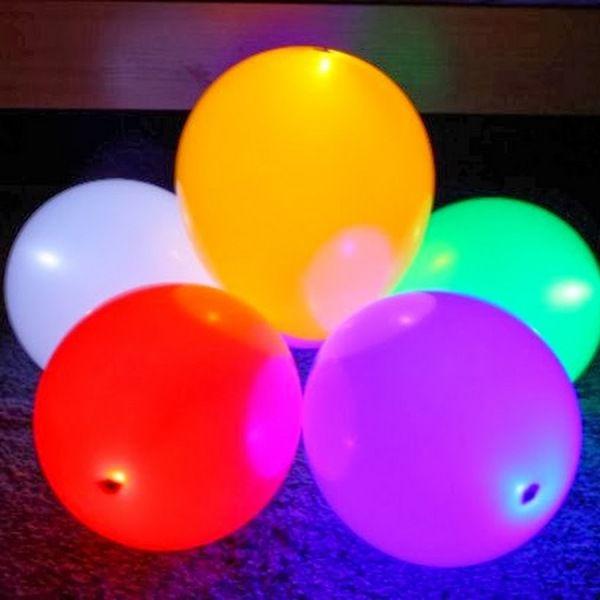 Шар (30 см) с подсветкой, 1 шт. с воздухом.