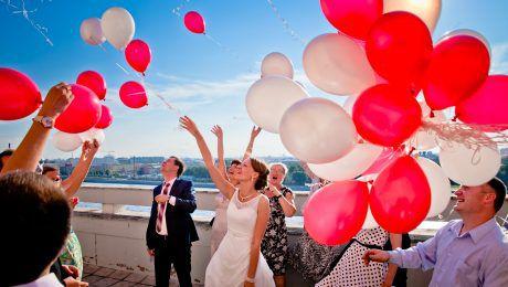 Воздушные шары на свадьбу. Компания onballoon.ru.