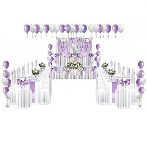 Космплексное оформление свадьбы шарами, http://onballoon.ru