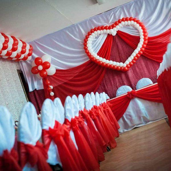 Воздушные шары на свадьбу. Компания onballoon.ru. Сердце из шаров
