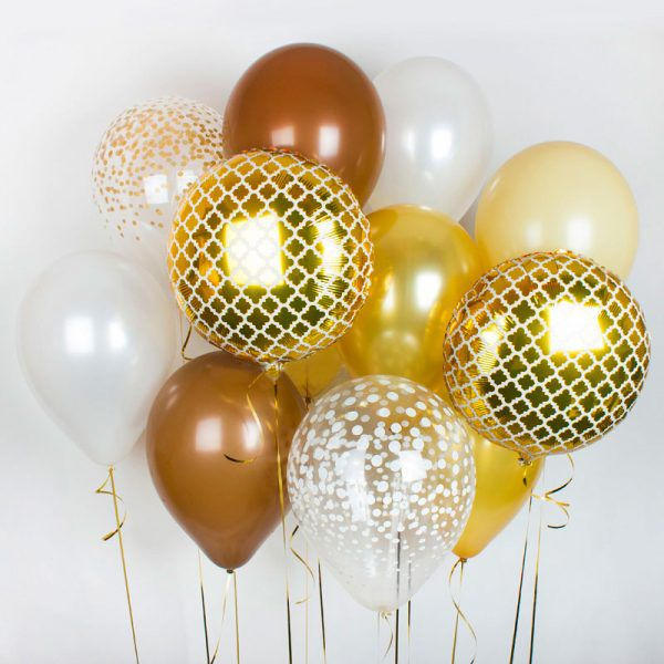 """Букет из шаров """"Золотая коллекция http://onballoon.ru"""