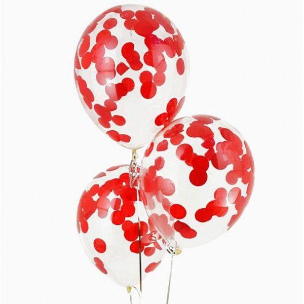 шары с красным конфетти http://onballoon.ru