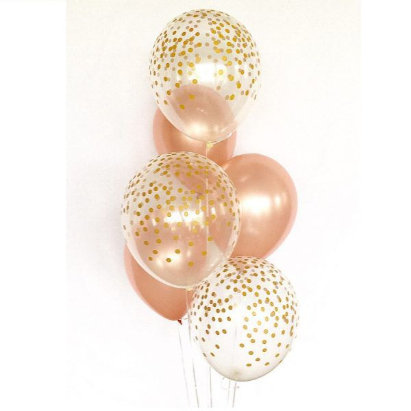 розовое золото воздушные шары
