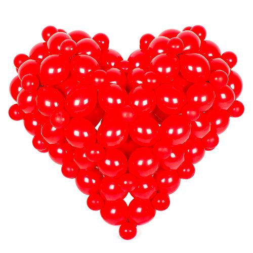 Сердце из шаров на свадьбу. http://onballoon.ru