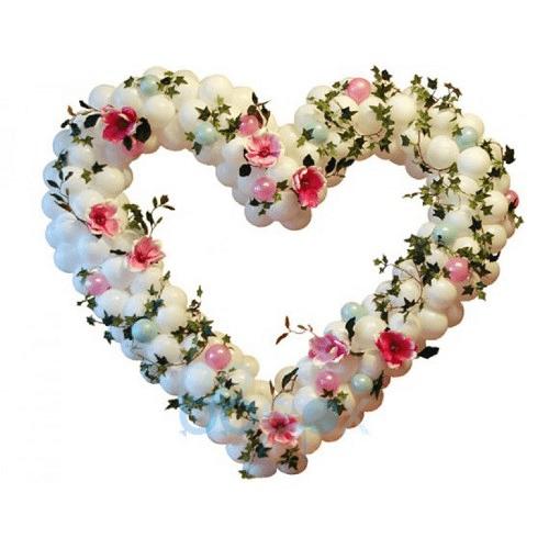 сердца из шаров на свадьбу http://onballoon.ru