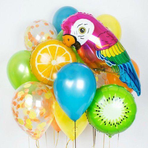 Воздушные шары тропики. Букет из шаров. http://onballoon.ru
