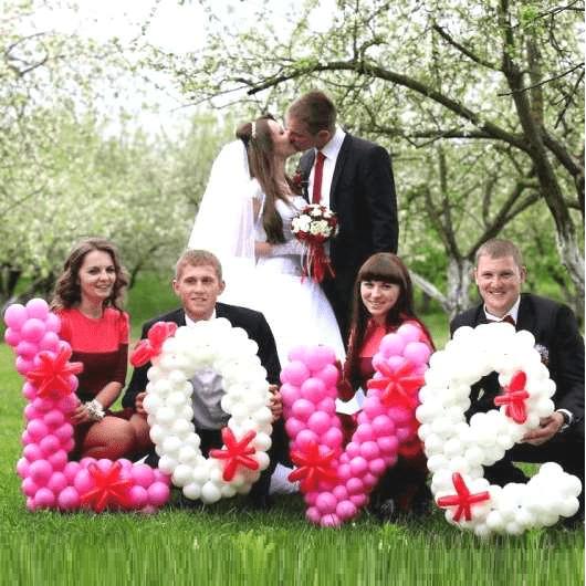 свадебная фотосессия с шарами. http://onballoon.ru