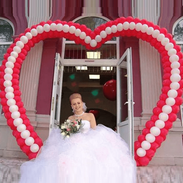 арка из шаров на свадьбу. http://onballoon.ru