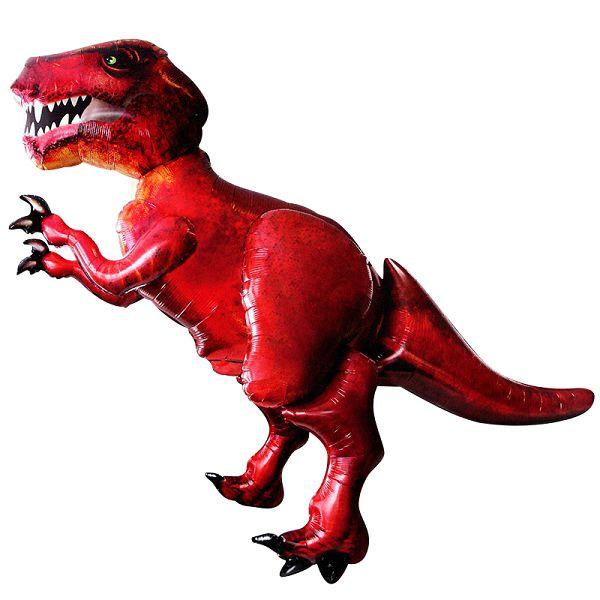 Шар (68''/173 см) Ходячая Фигура, Динозавр, Красный, http://onballoon.ru