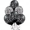 Шары с узорами белые и черные 30 см.