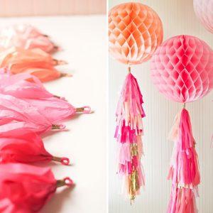 Воздушные шары с лентой тассел