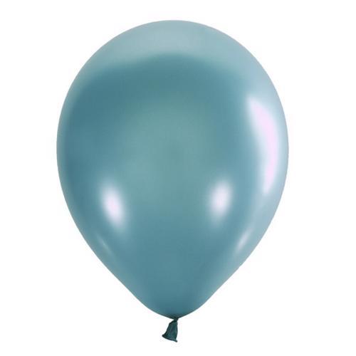 Воздушный шарик аквамарин металлик