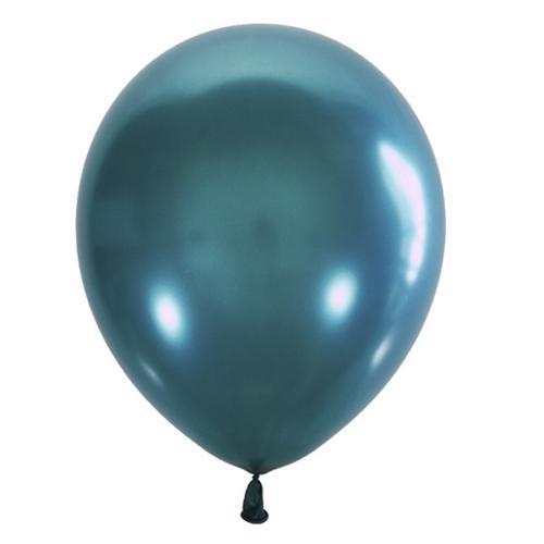 Воздушный шарик бирюза металлик