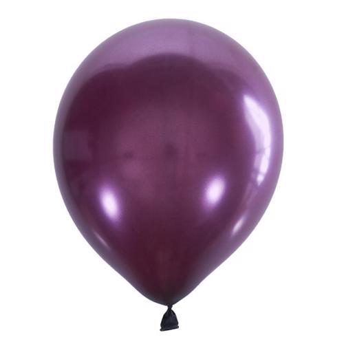 Воздушный шарик бургундия металлик