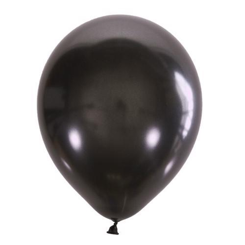 Воздушный шарик черный металлик