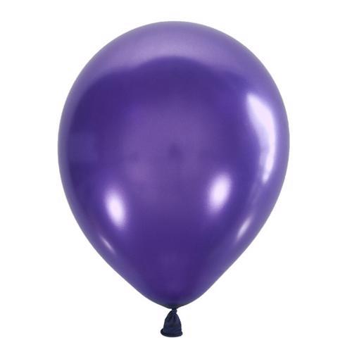 Воздушный шарик фиолетовый металлик