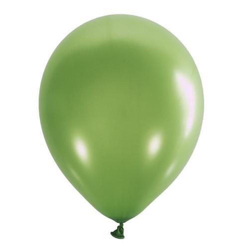 Воздушный шарик зеленый киви металлик