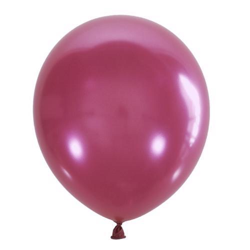 Воздушный шарик розовый металлик