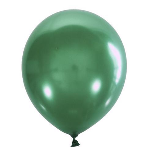 Воздушный шарик зеленый металлик
