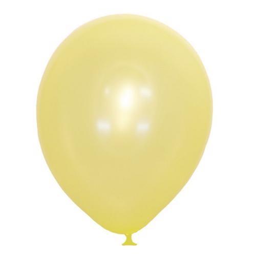 Воздушный шарик желтый металлик