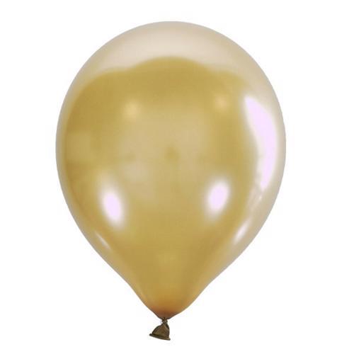 Воздушный шарик золотой металлик