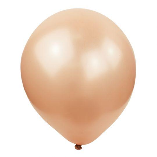 Воздушный шарик розовое золото перламутр