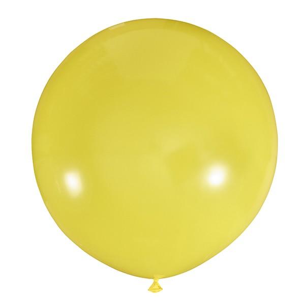 Большой олимпийский желтый шарик 90 см.