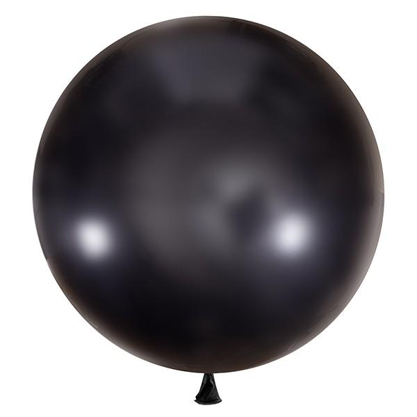 Большой олимпийский черный шарик 90 см.